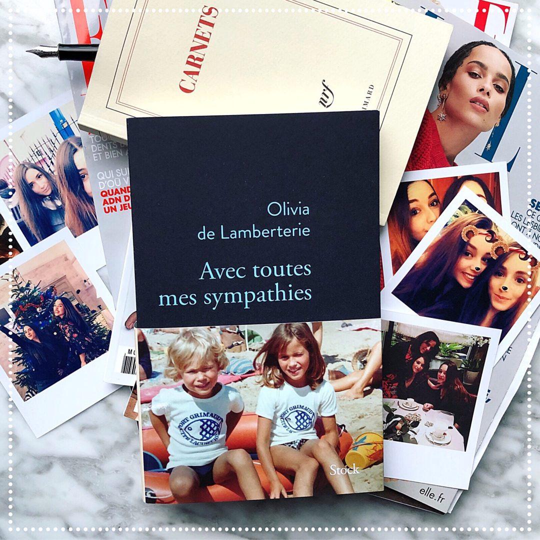 booksnjoy-Avec toutes mes sympathies, Olivia de Lamberterie : rentrée littéraire 2018-magazine Elle - télématin - le masque et la plume