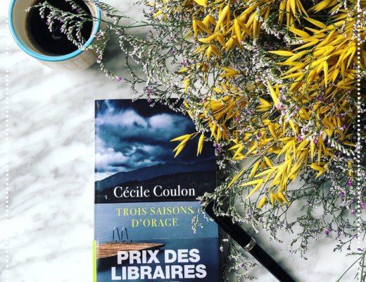booksnjoy - Trois saisons d'orage, Cécile Coulon : Prix des libraires 2017